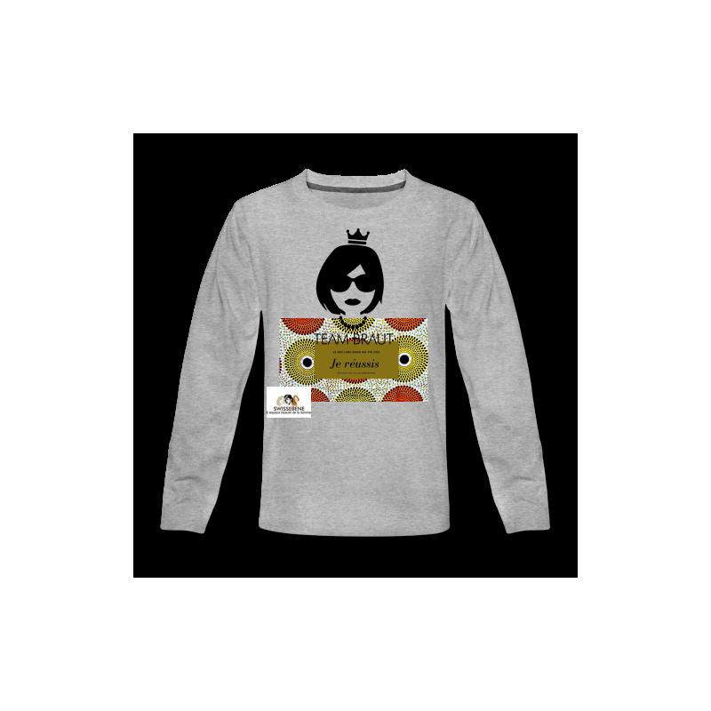 T-shirt premium manches courtes SWISSEBENE Création  maille piquée 100 % coton filé