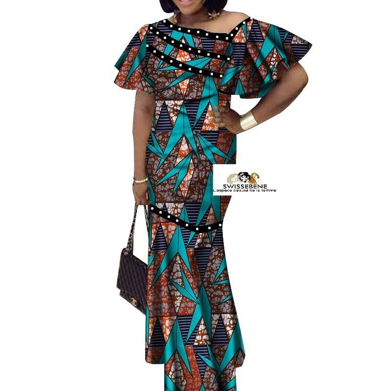 Vetement Femme Robe Subline Lydia 1 100 Coton Veritable Wax Swissebene